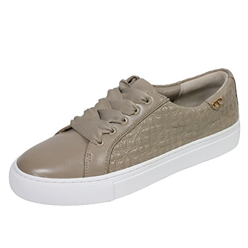 Tory Burch Bryant Quilted Leather Sneakers Athletic Classic Logo Tb (5.5, French Gray White)