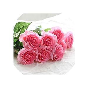 Artificial Flowers 20Pcs/Set Latex Flowers White Flowers Wedding Bouquet Home Party Decorative Party Flowers,2 55