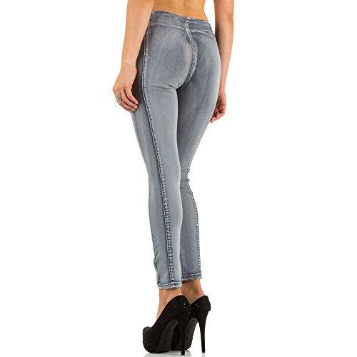Ital-Design - Vaqueros - para mujer gris