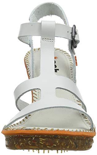 alla per donna bianco Sandalo 1079 bianco bianco bianco amsterdam Art con cinturino Vitello caviglia Zfq0Hzg