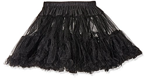 Leg Avenue Women's Petticoat Dress, Black, One Size (Black Dress Halloween Costumes)