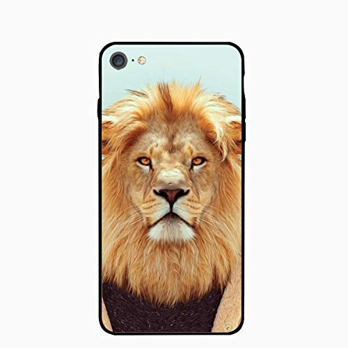 iPhone 6S Case/iPhone 6 Case, Lion Man Printed Clear Design Case TPU Bumper Protective Case Cover iPhone 6/6S]()