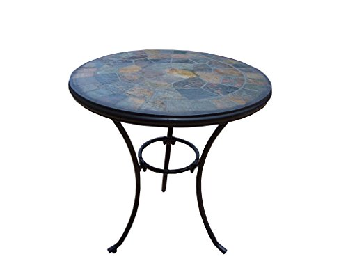 Oakland Living Stone Art Bistro Table, 24-Inch by Oakland Living