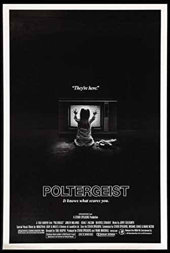 POLTERGEIST TOBE HOOPER SPIELBERG HORROR 1982 ORIGINAL 27X41 ONE SHEET MOVIE POSTER NEAR MINT ROLLED