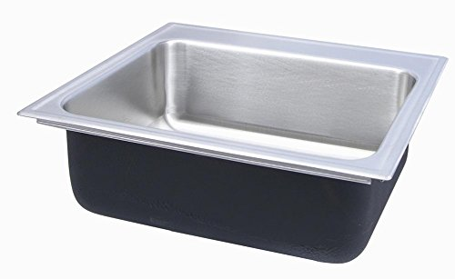 Just SL-2217-A-GR-3 Single Bowl 18-Gauge T-304 Stainless Steel Commercial Grade Drop In Sink ()
