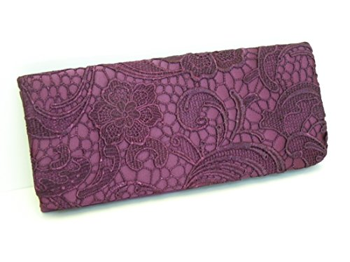 Handheld Evening Bag (Floral Embroidered Silk Satin Clutch Handbag Wallet Purse ... Evening Bag, Hand-Held and Long Chain , Approx Size 10.5