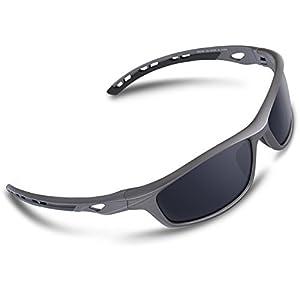 RIVBOS Polarized Sports Sunglasses Driving Sun Glasses for Men Women Tr 90 Unbreakable Frame for Cycling Baseball Running Rb833
