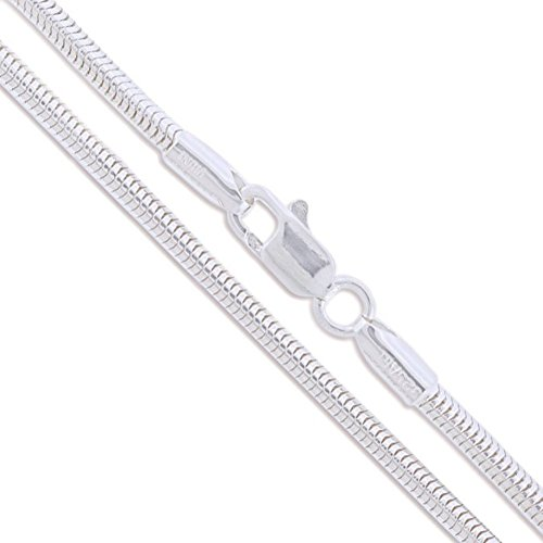 Sterling Silver Snake Chain 2.3mm Solid 925 New Brazilian Necklace 18