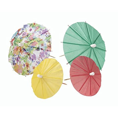 Talking Tables Floral Fiesta Floral Paper Drinks Parasols for a BBQ, Luau, or Summer Party, Multicolor (24 - Fiesta Table