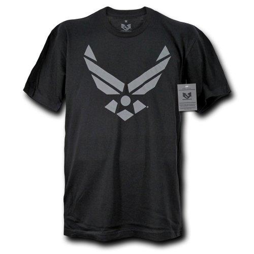 Rapiddominance 30 Single US Air Force 3 Tee, Black, Large (Air Force Single)