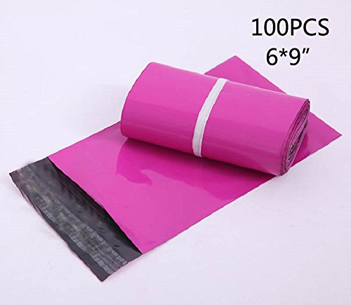 100PCS 69 HOT PINK Poly Mailers Small Packaging Shipping Envelopes Bags, Poly Mailer Plastic Envelopes Mailing Bags Sobres OYOY