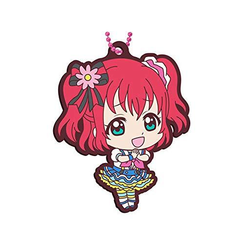 Love Live! Sunshine!! Ruby Kurosawa Aozora Jumping Heart Ver. Character Gacha Capsule Rubber Key Chain Mascot Collection Vol.13 Anime Girls Art