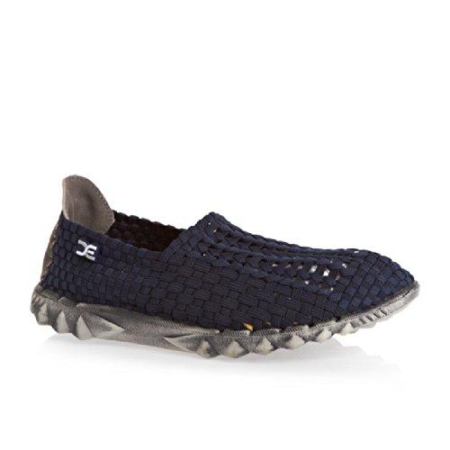 Hey Dude E-carga 05 Shoes - azul marino elástico de trekking para Weave