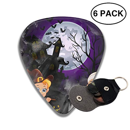 Guitar Picks Halloween Costumes Mummy Celluloid Plectrum Thin Medium Heavy Bass 3D Printed Variety Pick Mini Music Gift Grip -