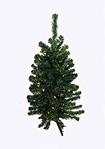 3u0027 battery operated prelit led pine artificial christmas tree clear lights - Prelit Christmas Tree