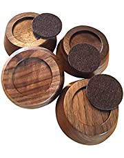 Premium Wood Furniture Risers 1 inch | Best Furniture Lifters for Bed Risers, Desk Riser, Table Risers, Bed Lift, Leg Risers, Chair Risers | 100% Real Wood