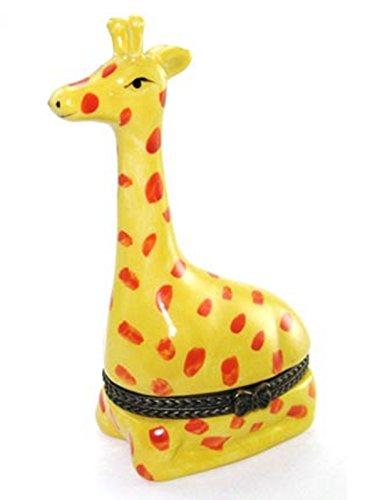 Art Gifts African Giraffe Safari Zoo Hinged Trinket Box phb