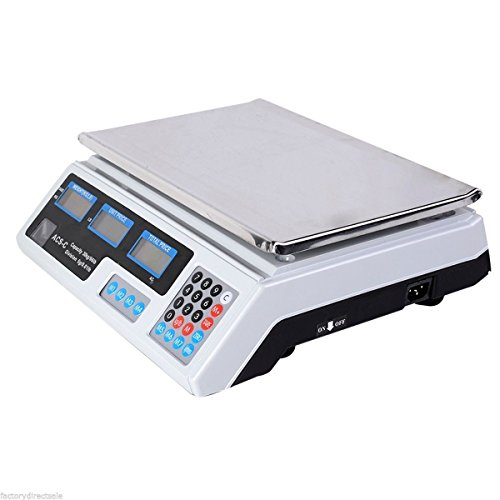Digital Weight Scale Price Computing Retail Food Meat Scales Count Scale 66Lbs - By Choice Products by By Choice Products
