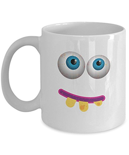 Eye Roll Coffee Mug - Funny Scary Gifts - 11 oz Ceramic Cup -