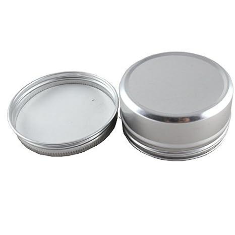 369eb2d58b70 CTKcom 6-Pack Screw Top Round Steel Tins,Aluminum Tin: Amazon.in ...