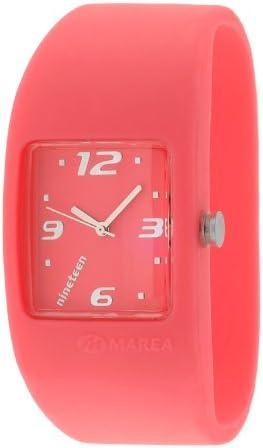 Marea Nineteen B35501/16 - Reloj de Mujer de Cuarzo, Correa de Silicona Color Rojo