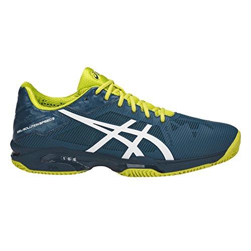 Chaussures Asics Gel-solution Speed 3 Clay bleu clair/blanc/jaune vif