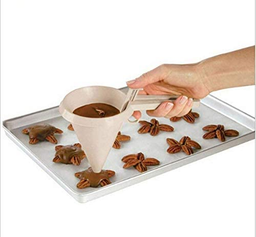 herramienta de decoraci/ón de pasteles dispensador de chocolate de mano para pasteler/ía ANNIUP Embudo de pasta de chocolate de pl/ástico embudo de helado de crema de mantequilla