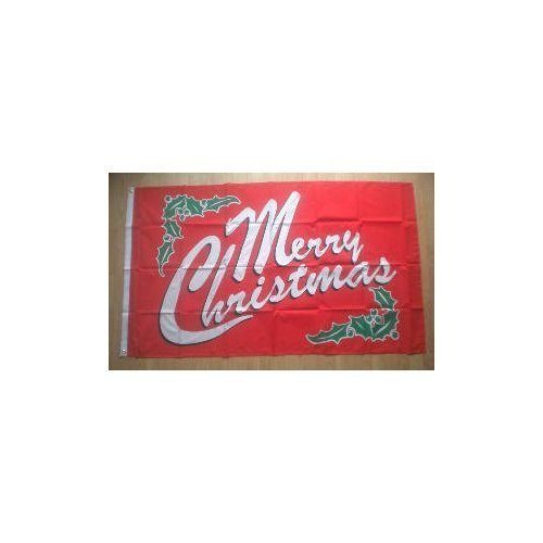 Merry Christmas Red Large Christmas Flag 5ft x 3ft