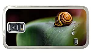 Hipster Cheap price Samsung Galaxy S5 Case snail PC Transparent for Samsung S5