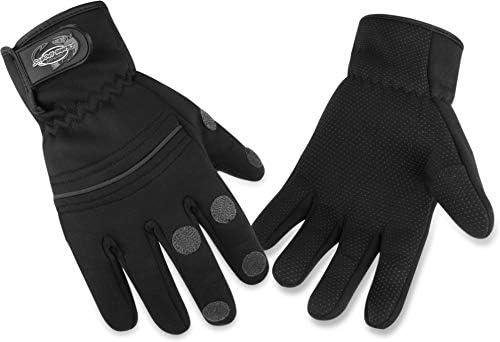 normani Fishing Sports Neoprenhandschuhe Angler Handschuhe mit umklappbaren Fingerkuppen aus 3mm Dupont/™ Titanium Neopren