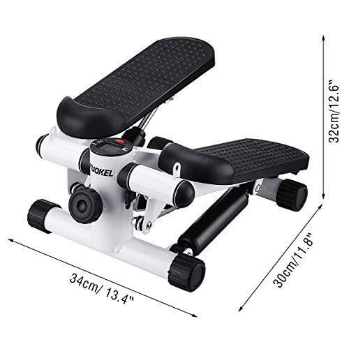 KUOKEL Title Mini Stepper,Mini Fitness Exercise Machine-Mini Elliptical Foot Pedal Stepper, Step Trainer Equipment with Resistance Bands Durable & Safe Treadmill and Comfortable Foot Pedals by KUOKEL (Image #3)