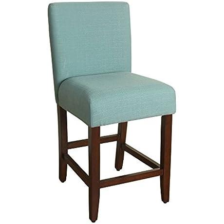 Kinfine K6858 24 F1374 Upholstered Barstool 24 Inch Textured Aqua