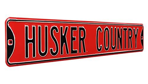 NCAA Husker Country, Heavy Duty, Metal Street Sign Wall Decor