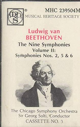 CHICAGO SYMPHONY ORCHESTRA: Ludwig Van Beethoven The Nine Symphonies - #2, No. 3 Cassette Tape