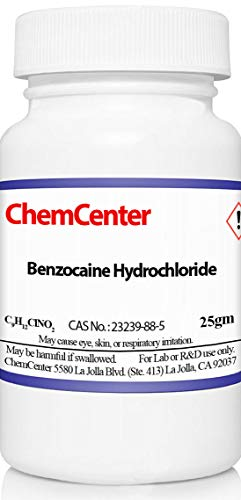 - Benzocaine Hydrochloride (HCl), High Purity, 25 Grams