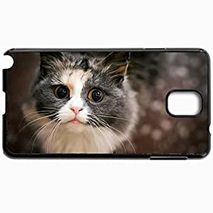 Customized Cellphone Case Back Cover For Samsung Galaxy Note 3, Protective Hardshell Case Personalized Curious Cat 14632 Black