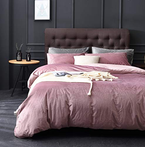 UEU Anti-Static 3 Pieces Duvet Cover Set Silk Hand Feeling Perfect for Winter Soft Bedding,K(90