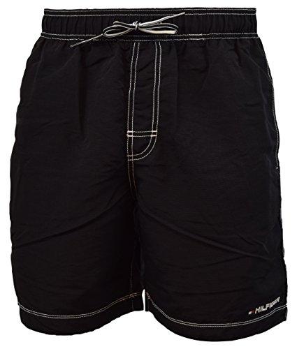Tommy Hilfiger Mens Swim Trunks Black (Small)