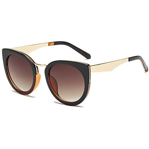 Aoligei Fashion tendance lunettes de soleil lunettes de soleil hommes et femmes rondes font face à des lunettes de soleil rétro arHAoMme2D