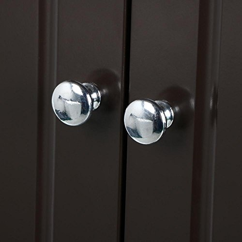 go2buy Wall Mounted Cabinet Kitchen/Bathroom Wooden Medicine Hanging Storage Organizer, Espresso by go2buy (Image #6)