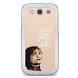 Game of thrones Samsung Galaxy S3 Transparent Edge Case - Lannister Pay debts