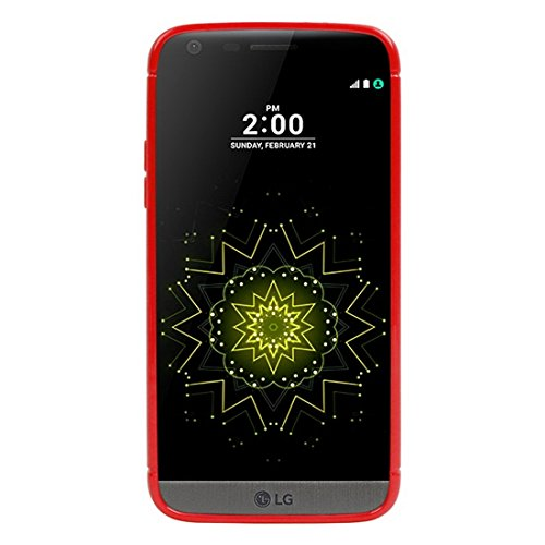 SRY-Phone protection case Para LG G5 Honeycomb superficie TPU caso de protección ( Color : Red ) Red