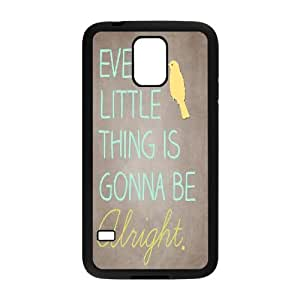 Qxhu everything's alright Hard Plastic Back Protective case for SamSung Galaxy S5 I9600
