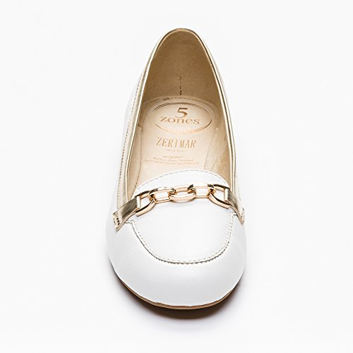Zerimar Leather Ballet Shoes for Women | Summer Ballet Shoes | Summer Ballet Pumps White-gold GEw4Y60