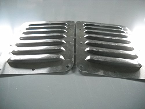 "RodLouvers Pair of Angled Aluminum 5"" 7 Louver Hood Panels (Bolt-On) Kit by RodLouvers (Image #1)"