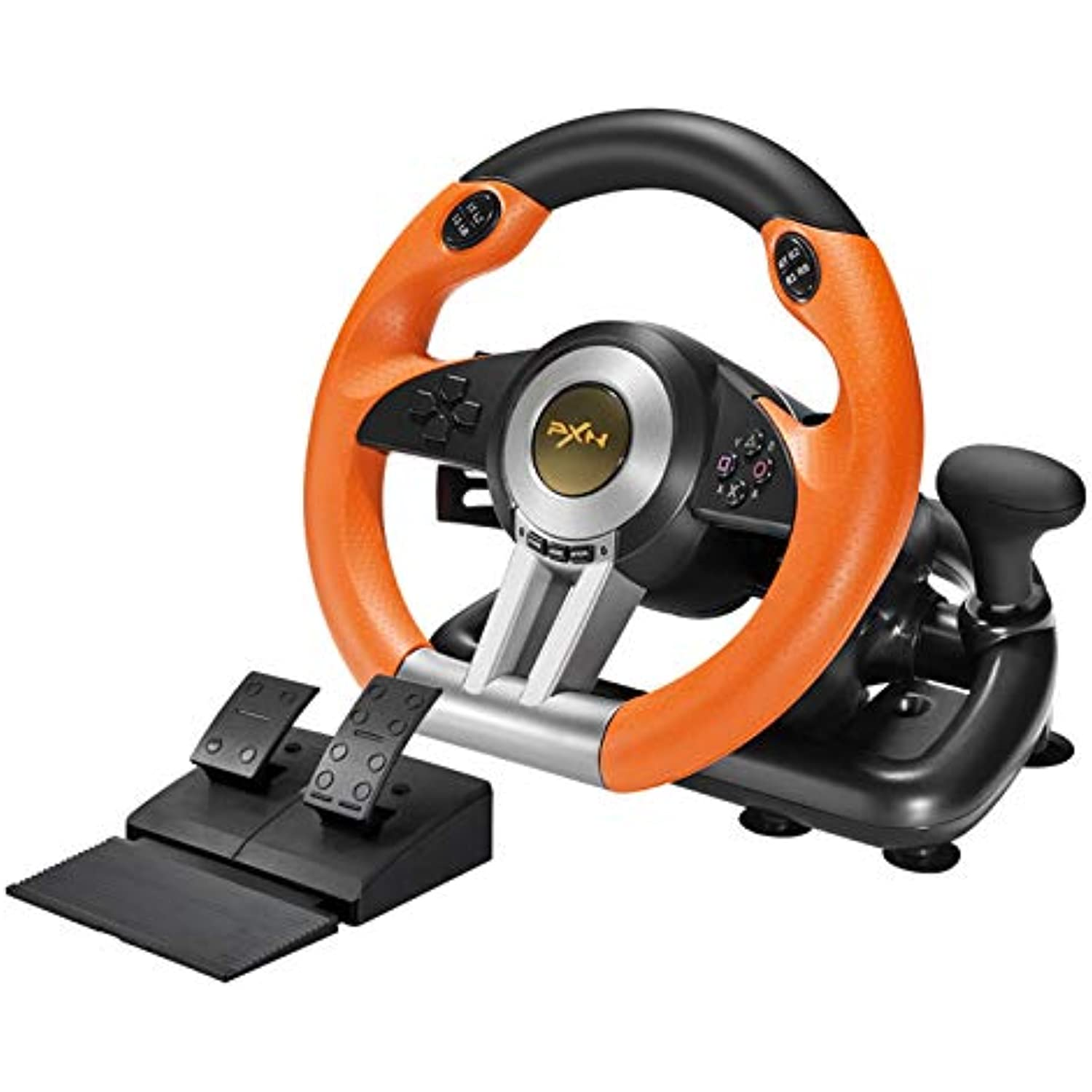 PXN V3II PC Racing Wheel, USB Car Race Game Steering Wheel with Pedals for Windows PC/PS3/PS4/Xbox One/Nintendo Switch