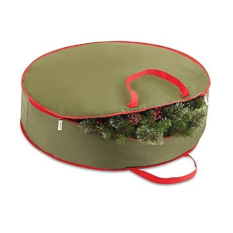 36-Inch Holiday Wreath Storage Bag comes in Collapsible feature by Real Simple by Real Simple