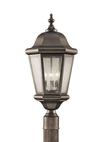 Feiss OL5907CB Martinsville 3-Light Post, Corinthian Bronze