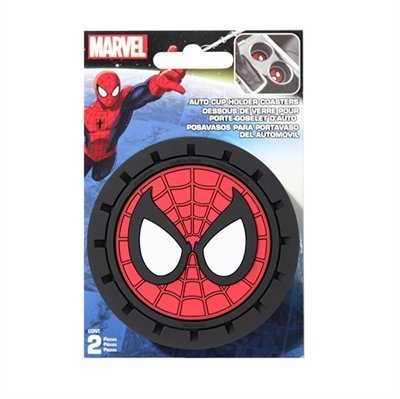 Marvel Spiderman Heavy Duty Rubber Auto Cup Coaster 2 pc