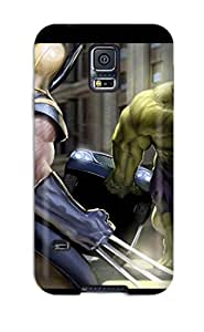 Fashionable Style Case Cover Skin For Galaxy S5- The Hulk And Wolverine